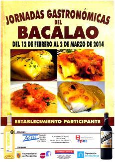 Cartel de las Jornadas Gastronómicas del Bacalao
