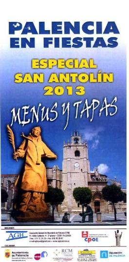 Cartel del Menú de San Antolín
