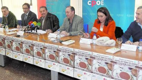 Participantes en la rueda de prensa de las Jornadas de la Lenteja de Tierra de Campos